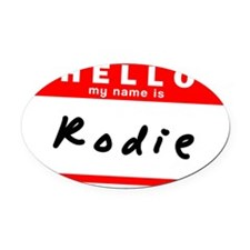 Rodie Oval Car Magnet