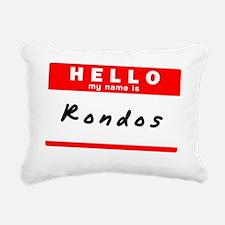 Rondos Rectangular Canvas Pillow