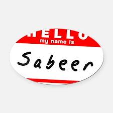 Sabeer Oval Car Magnet