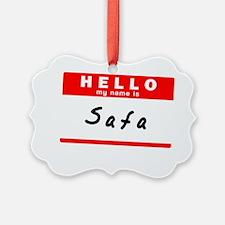 Safa Ornament