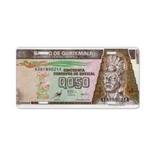 Guatemala Aluminum License Plate