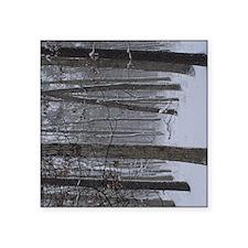 "Trees in Snow Square Sticker 3"" x 3"""