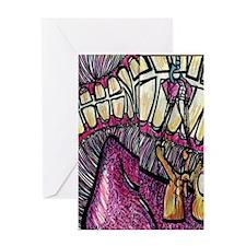 Open Wide Flip Flops Greeting Card