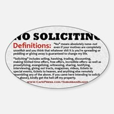 No Soliciting Definitions light 3x5 Decal