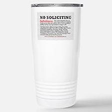 No Soliciting Definitions light Travel Mug