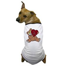 BEAR DADDY BROWN RED Dog T-Shirt
