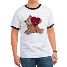 BEAR DADDY BROWN RED T