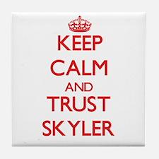 Keep Calm and TRUST Skyler Tile Coaster