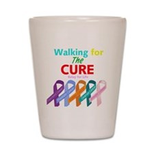 Walking for the CURE (relay for life) Shot Glass