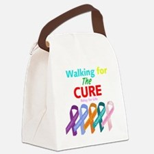 Walking for the CURE (relay for l Canvas Lunch Bag