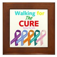 Walking for the CURE (relay for life) Framed Tile