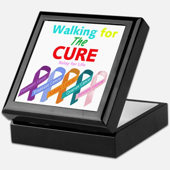 Walking for the CURE (relay for life) Keepsake Box