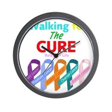 Walking for the CURE (relay for life) Wall Clock