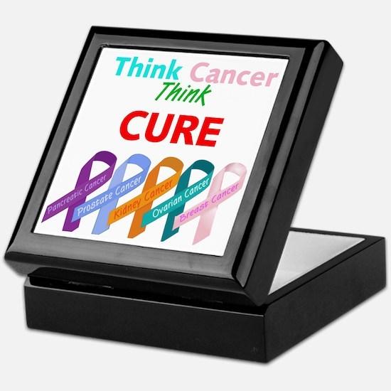 Think Cancer Think Cure Keepsake Box