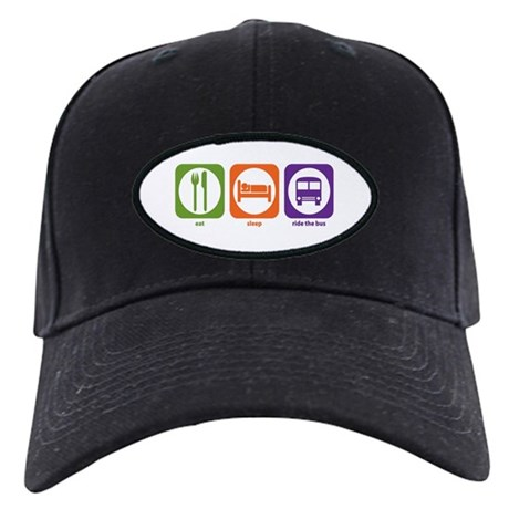 Eat Sleep Ride the Bus Black Cap