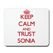 Keep Calm and TRUST Sonia Mousepad