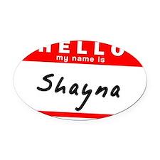 Shayna Oval Car Magnet