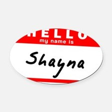 Shayna Oval Car Magnet