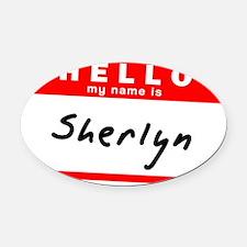 Sherlyn Oval Car Magnet