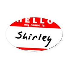 Shirley Oval Car Magnet