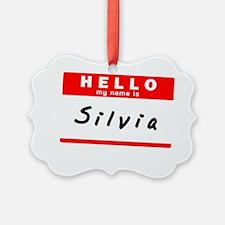 Silvia Ornament