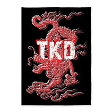 Taekwondo Dragon 5'x7'Area Rug