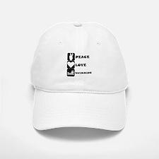 Peace Love Swimming Baseball Baseball Baseball Cap