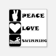 Peace Love Swimming Sticker