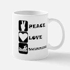 Peace Love Swimming Mugs
