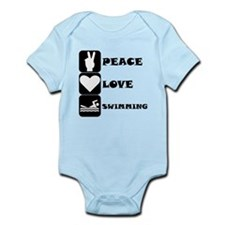 Peace Love Swimming Body Suit