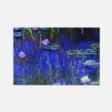 Coin Monet Lilies22 Rectangle Magnet