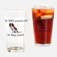 40 birthday dog years springer spaniel Drinking Gl