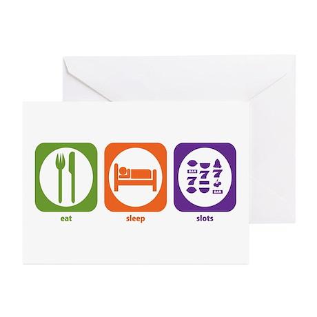 Eat Sleep Slots Greeting Cards (Pk of 10)