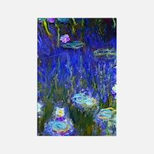 441 Monet Lilies22 Rectangle Magnet