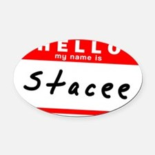 Stacee Oval Car Magnet