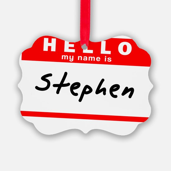 Stephen Ornament