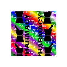 "FF PHARMACY 5 Square Sticker 3"" x 3"""