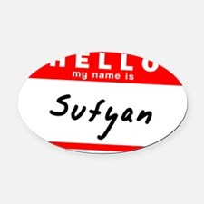 Sufyan Oval Car Magnet