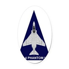F-4 Phantom II Triangle Oval Car Magnet