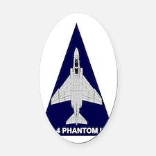 F-4 Phantom II Triangle Oval Car Magnet