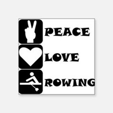 Peace Love Rowing Sticker