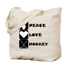 Peace Love Hockey Tote Bag