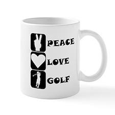 Peace Love Golf Mugs