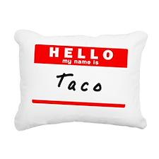 Taco Rectangular Canvas Pillow