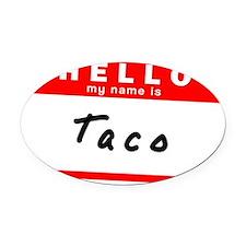 Taco Oval Car Magnet