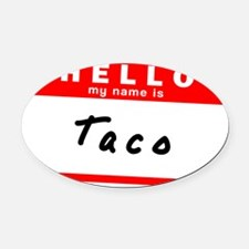 Taco Oval Car Magnet