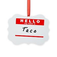 Taco Ornament