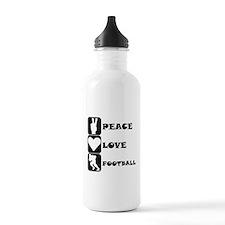 Peace Love Football Water Bottle