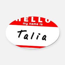 Talia Oval Car Magnet