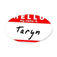 Taryn Oval Car Magnet